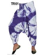 10 Cotton Tie Dye Boho Harem Balloon Trousers Womens Gypsy Pants India TR61 - $80.75