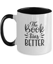 Funny Book Lover Coffee Mug For Young Adults Black White Ceramic Cup 11 oz - $15.79
