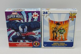 Lot Of 2 Marvel Super Hero/Toy Story 4 Jigsaw Puzzles 24 Piece Brand NEW... - $11.87