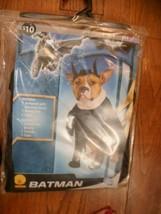 "Rubie's Batman Pet Costume jumpsuit,headpiece, Cape szM 14-16"" NIP - $9.88"