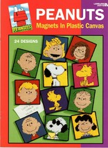 Peanuts Magnets in Plastic Canvas 24 Designs Snoopy Charlies Brown Lucy ... - $11.50