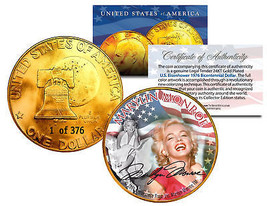 1976 MARILYN MONROE 24K Gold Plated IKE Dollar *Each Coin Serial Numbere... - $9.46