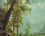 69325a trees mountain scene calendar art print lithograph 1940s thumb155 crop