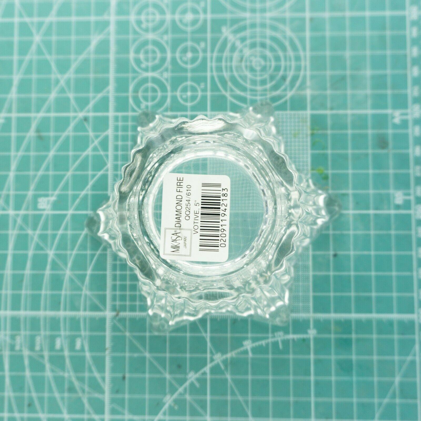 "VTG Mikasa Japan Votive 5"" Six Sided Tealight Candle Holder Key Glass Decorative image 5"