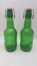 Vintage Green Grolsch Swing Top 16 Oz 47.3 CL Beer Bottles Set Of 2 - $19.79
