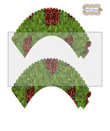 CupCake Wrapper15-Digital Clipart-Holiday-Gift Tag-Digital Paper-Party - $2.00