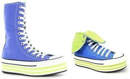 Converse Periwinkle Blue & Green BAJA EVA Platform XHI 13-Eye Shoes Wms ... - $69.99
