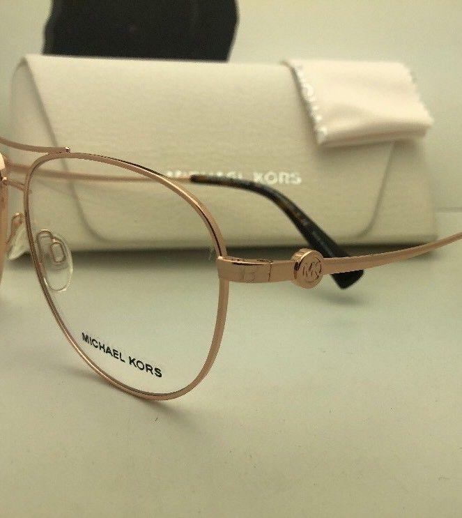 0a5913f48d New MICHAEL KORS Eyeglasses KENDALL III MK 7009 1026 57-14 135 Rose Gold  Aviator