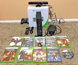 Xbox 360 E 250GB Console Bundle - 10 Games + Cables + Controller - Tested - $169.00