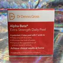 NEW IN BOX Dr. Dennis Gross Extra Strength Alpha Beta Daily Peels 3 Pack