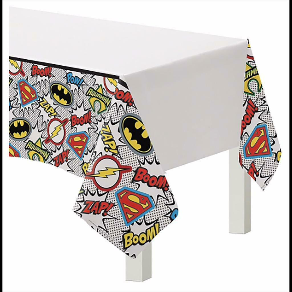 Heroes Unite Justice League Plastic Tablecover Birthday Party Supplies New - $6.88