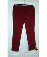 Jones New York Womens's Red Rust Tapered Stretch Cotton Trousers 16 … - $38.60