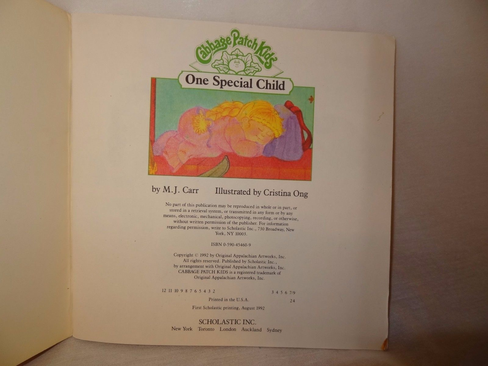 One Special Child Scholastic Book 1992 Children Cabbage Patch Kids Paperback