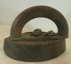 Antique~Vintage NO 50 PHILADELPHIA USA W/WOODEN HANDLE  Cloths Iron~CAST... - $29.70