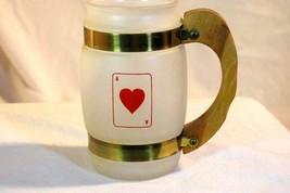 Benner Glass Siesta Ware Ace Of Hearts White Milk Glass Mug - $11.69