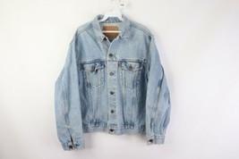 Vtg 80s Levis Orange Tab Distressed Denim Jean Trucker Jacket Mens 44 Re... - $79.15