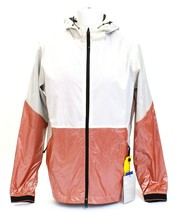 Under Armour White & Brown UA Recovery Legacy Hooded Windbreaker Jacket ... - $90.74