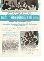 Omri Katz Kellie Martin James Vilemaire teen magazine pinup clipping Matinee Bop