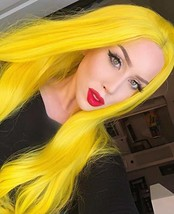 Sapphirewigs Yellow Color Natural Wavy Silky Soft Beauty Blogger Celebri... - $41.86