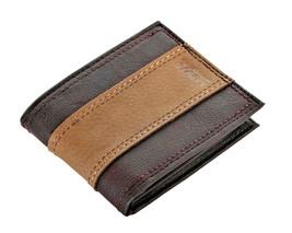 Levi's Men's RFID Blocking Two Tone Bifold ID Logo Brown Wallet 31LV240017 image 2