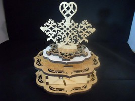 Music box- Very Decorative Fretwork style- Personalized - $40.00