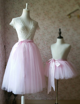 BABY PINK Mother Daughter TUTU Skirt Set Baby Shower Photography Props