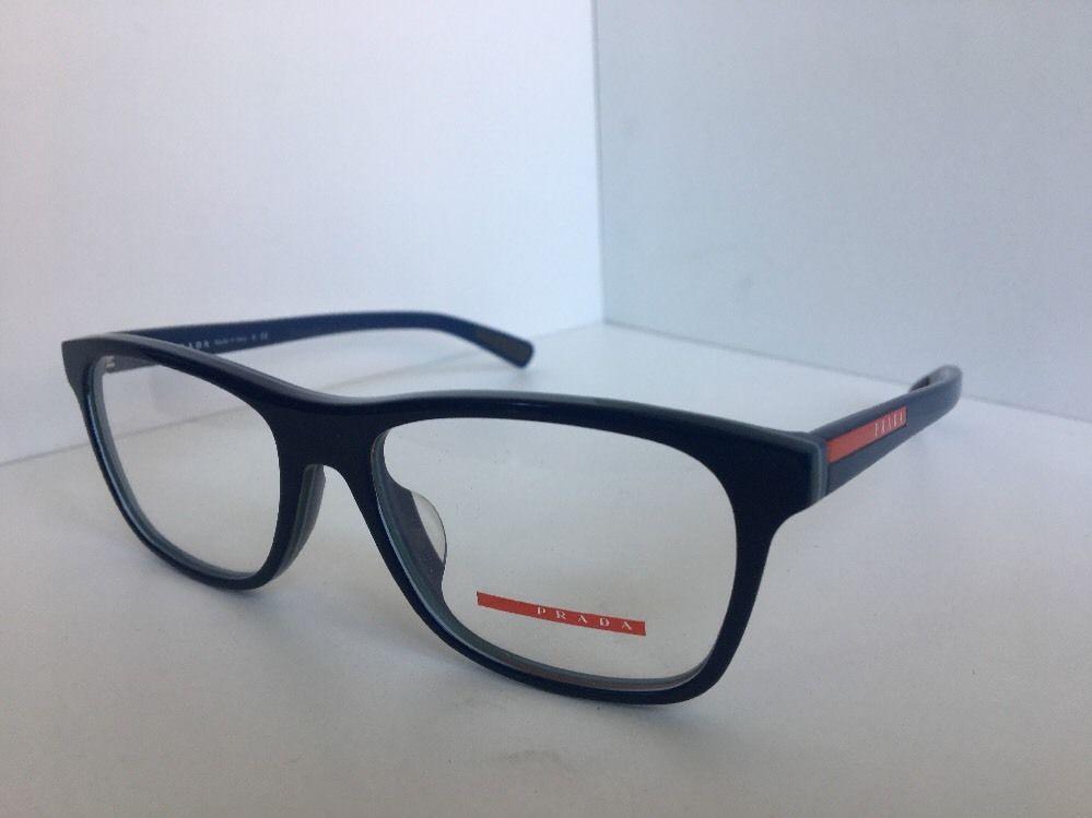 33498eb4a685 S l1600. S l1600. Previous. New PRADA Sport VPS 01F-A TIO-1O1 55mm Blue Men s  Eyeglasses Frame Italy