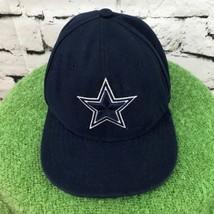 Dallas Cowboys Boys Sz 6 3/8 Hat Navy Blue Fitted NFL New Era Ball Cap - $14.84