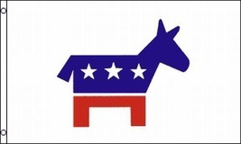 Democrat Party Flag Donkey Democratic Logo Icon Flag 3x5 Polyester - $6.79