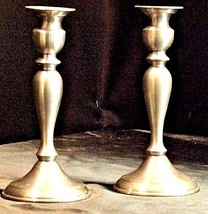 Candlestick Holders Leonard Genuine AA18 - 1040 Vintage Pair of Vintage Pewter image 2