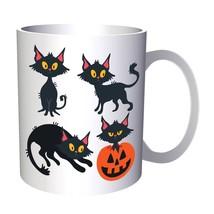 Cat Halloween Smiley 11oz Mug r539 - $14.08 CAD