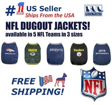NFL Dugout Warm Jacket for Dogs & Cats - Licensed. 5 Football teams, 3 p... - $34.99