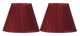 Urbanest Set of 2 Pleated Softback Lamp Shade, Faux Silk, 5-inch by 9-inch by 7- - $29.69