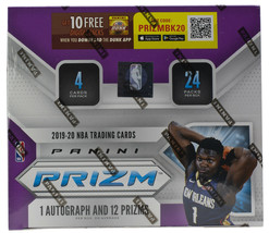 2019-20 Panini Prizm NBA Basketball Factory Sealed Hobby Box Zion, Morant - $1,260.99