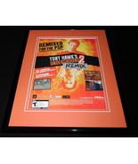 Tony Hawk's Underground 2 Remix PS2 2005 Framed 11x14 ORIGINAL Advertise... - $34.64