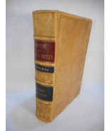 1900 Handbook Law of Bills and Notes Leather Bound by Charles Norton - $69.25