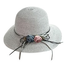 Straw Hat Summer Ladies Women Casual Solid Wide Brimmed Floppy Foldable ... - $14.56