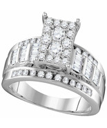 10kt White Gold Round Diamond Bridal Wedding Engagement Ring 7/8 Ctw Size 6 - £679.87 GBP