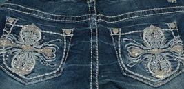 Grace In LA Embellished Pockey Grace Denim Girl Jeans Size 8 image 4