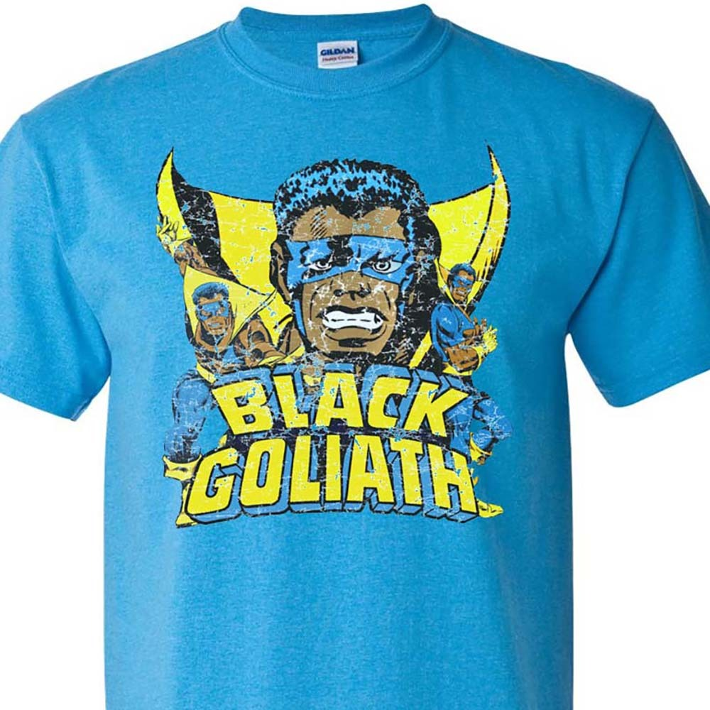 Age silver age comic book t shirts for sale online graphic tee store african american hero blue.