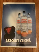 Absolut Cliche Mandarin Apple Original Magazine Ad - $2.99