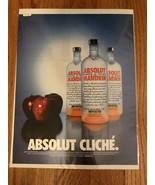 Absolut Cliche Mandarin Apple Original Magazine Ad - $2.99