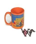 DISNEY Winnie The Pooh Orange BEE FRIENDLY HAPPY BEING ME Coffee Mug Tea... - $29.69