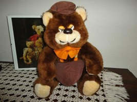 Ganz Bros Canada Vintage Brown Bear Corduroy & Plush Chubby Body Funny F... - $37.53