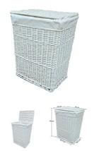 Laundry Hamper Basket Lid Lining Wicker Washing Bin Dirty Clothes Large 85L - $44.15
