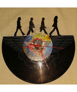 VINYL PLANET Wall Clock THE BEATLES 5 Home Record Unique Decor upcycled ... - $29.50