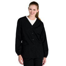 Dickies Scrub Jacket 2XL Navy Blue Women's Button Front V Neck 80305 New - $21.31