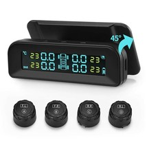 Universal Solar Tire Pressure Monitor System Real-time Tester LCD Screen - $32.12