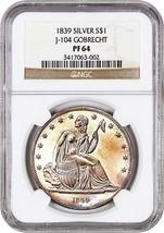 1839 Gobrecht $1 NGC PR 64 (Judd-104, Original, Medal Alignment) - $83,226.00