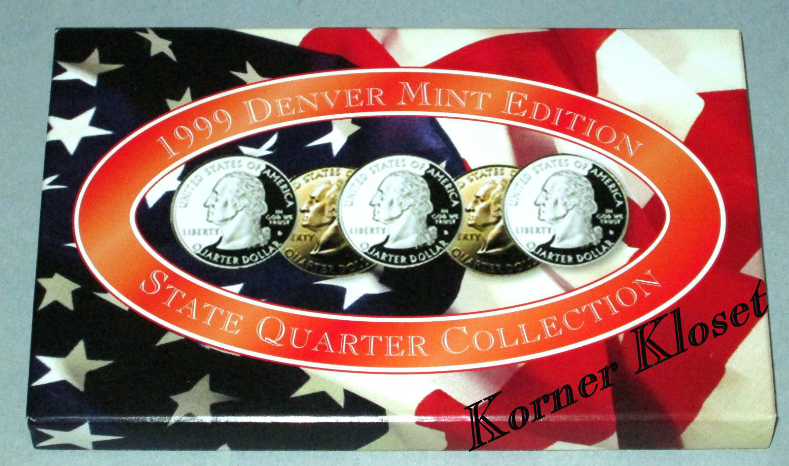 """From US Mint Bag 2004 D Michigan State Quarter /""""BU/"""" 40 Coin Roll"""
